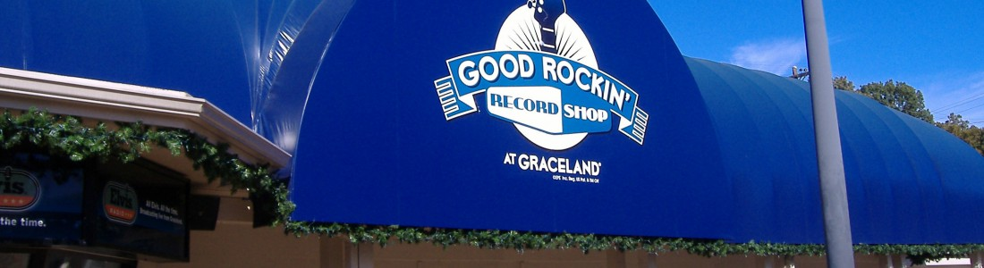 graceland record shop awning by Delta Tent & Awning Company