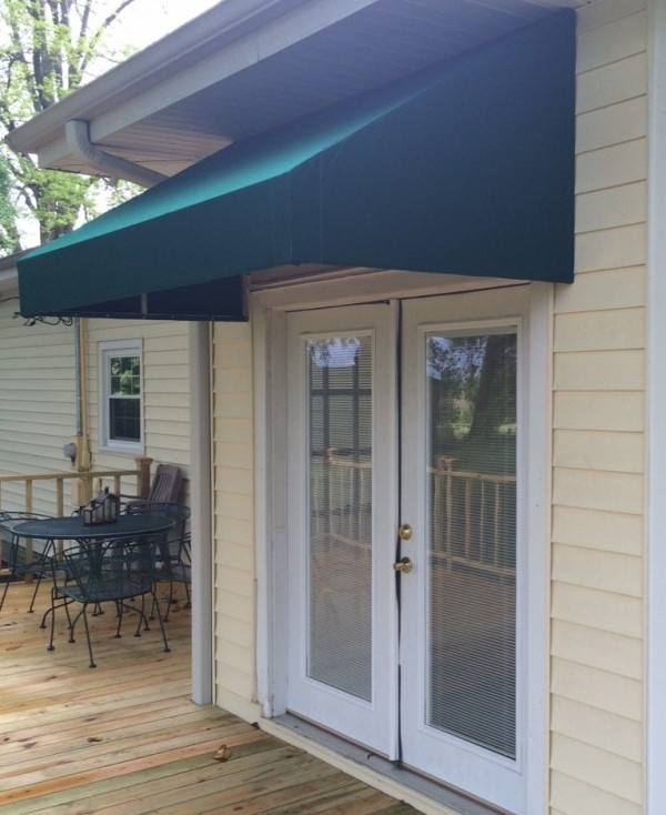 Delightful Standard Box Awning Over Door To Patio Or Deck