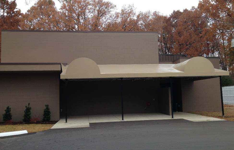 Vinyl Awning for Graceland by Delta Tent & Awning Company