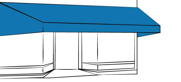 Buy Awnings For Your Home Or Business Custom Made Windows Doors And Patios With Quality SunbrellaR Canvas Roll Formed Aluminum From Delta Tent