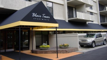 blair tower apartments - memphis commercial awning