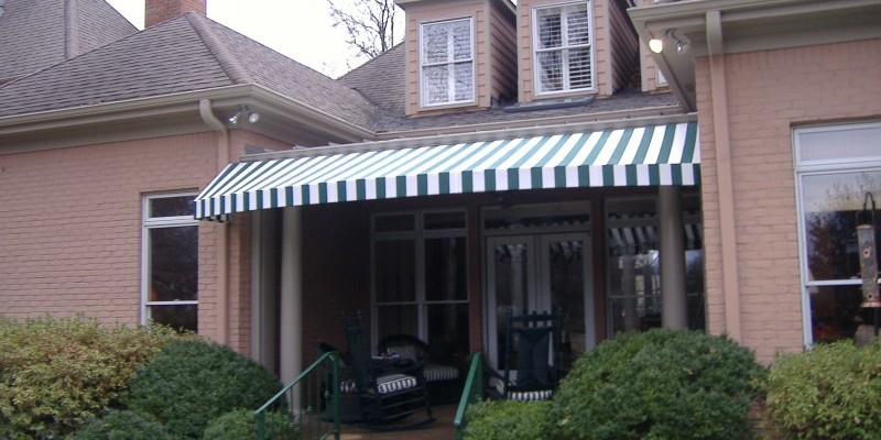 home awning example with sunbrella fabric for front porch