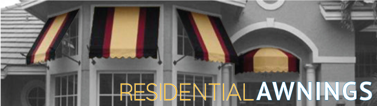 awnings for homes, apartments, residential communities.