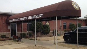 bolivar country sheriff department entrance canopy awning