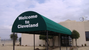 Sunbrella Fabric Oval Awning - Commercial Entrance