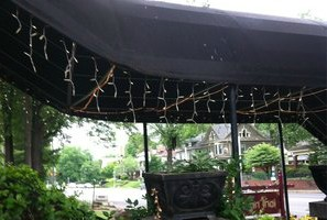 Curved Canopy Walkway Awning