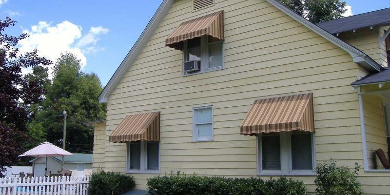 Standard stripped home window awnings.
