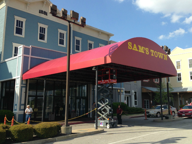 Commercial Canopy Awning - Example installed at Sam's Town Casino