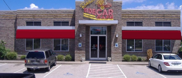 red awning example design