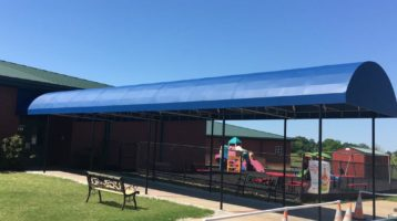 elementary school entrance canopy awning