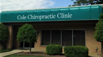 cole chiropractic clinic awning