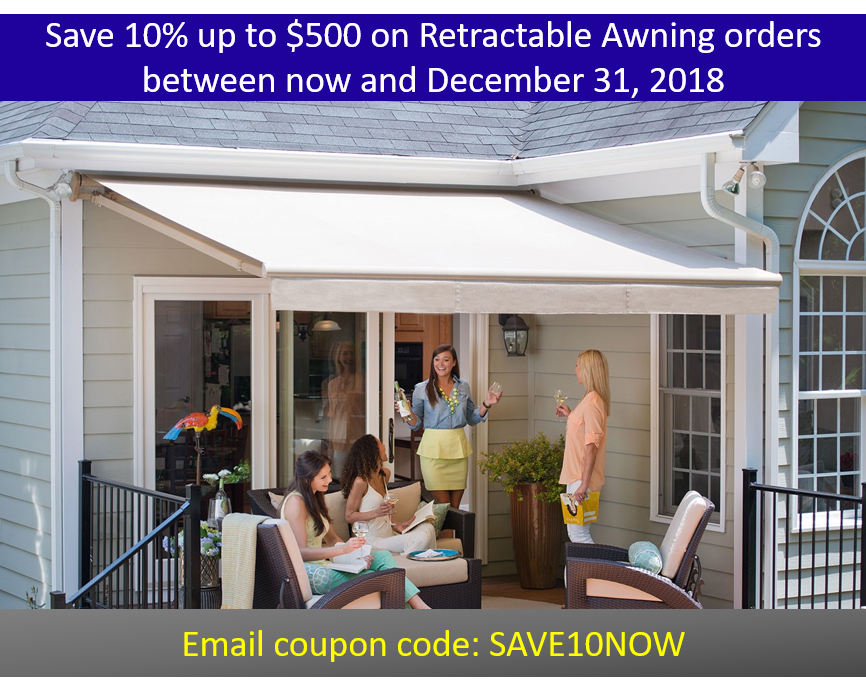 Save 10% Retractable Awnings